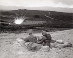 Photograph of Two Soldiers in a Foxhole