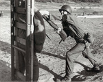 Photograph of a Soldier Using a Bayonet