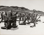 Photograph of Soldiers Being Trained to Use Mortars