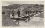 Photographic Postcard of Pontoon Footbridge