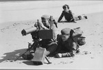 Photograph of Machine Gunners on Beach