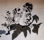 Photograph of Interior Mural in Bldg. 1697