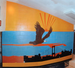 Photograph of Interior Mural in Bldg. 3582