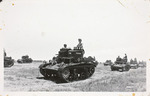 Photographic Postcard of Manned Tanks