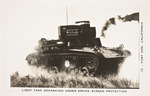 Light Tank Advancing Under Smoke-Screen Protection