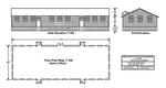 Admin. Bldg. Schematic, T-104, East Garrison 1