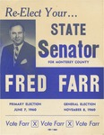 Re-Elect Your...State Senator for Monterey County, Fred Farr by Fred S. Farr
