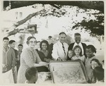 Fred Farr with a Group of Children and Adults in Pacific Grove, California