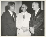 Fred Farr with John F. Kennedy and Lyndon B. Johnson by CSUMB Archives and Special Collections