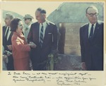 Fred Farr Shaking Hands with Lady Bird Johnson at the State Scenic Highway Dedication Ceremony, 1966