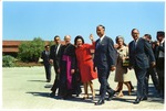 "Lady Bird Johnson with Fred Farr, Secretary of the Interior Stewart Udall, California Governor Edmund ""Pat"" Brown, and the Governor's Wife, Bernice Layne Brown, 1966"