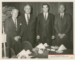 Fred Farr Standing With Three Other Men