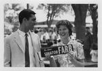 Fred Farr Supporter Holding a Campaign Bumper Sticker