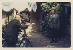 Fred Farr Being Filmed Outside His Home