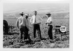 Fred Farr with a Group of Farmers in the Salinas Valley