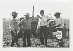 Fred Farr Speaking with a Group of Farmers in the Salinas Valley