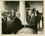 Ansel Adams Shaking Hands With President Lyndon B. Johnson