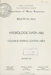 1965 - DWR Bulletin No. 130-63, Hydrologic Data, Volume III, Central Coastal Area