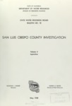 1958 - DWR Bulletin No. 18, San Luis Obispo County Investigation, Volume II, Appendixes
