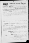 001467, US Land Patent, T15S, R03E; Meek, Abram L., Apr. 9 1881, and BLM Land Patent Detail Sheet