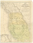 1847 Oregon - Upper-New California Map