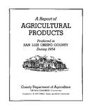 1954, San Luis Obispo Crop Report.