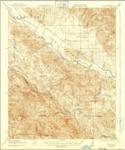 1919 - Bryson Quadrangle Topographical Survey, Monterey County - USGS