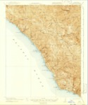 1921 - Lucia Quadrangle Topographical Survey, Monterey County - USGS