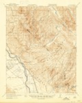 1921 - Metz Quadrangle Topographical Survey, Monterey and San Benito Counties - USGS