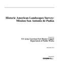 2012 - Historic American Landscapes Survey - Mission San Antonio de Padua