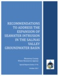 2017, October - Recommendations to Address the Expansion of Seawater Intrusion in the Salinas Valley Groundwater Basin