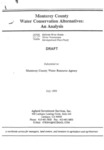 1995 - Monterey County Water Conservation Alternatives - An Analysis