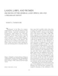 1993 - Lands, Laws, and Women - Decisions of the General Land Office, 1881 - 1920, A Preliminary Report, Nancy J. Taniguchi