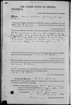 001586, US Land Patent, T14S, R2E, Andrew Potter, Nov. 10, 1868, and BLM Land Patent Detail Sheet
