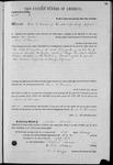 000134, U.S. Land Patent, T25S, R10E, James G. Denman, Feb. 1, 1862, and BLM Land Patent Detail Sheet