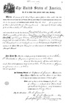 001111, US Land Patent, T25S, R11E, John P. Backesto, May 1, 1869, and BLM Land Patent Detail Sheet