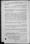 002468, US Land Patent, T25S, R11E, John A. Patchett, May  20, 1870, and BLM Land Patent Detail Sheet