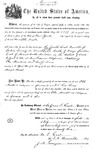 005539, US Land Patent, T26S, R14E, Otto Arnold, July 1, 1869, and BLM Land Patent Detail Sheet