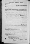 002609, US Land Patent, T28S, R10E, James M. Dover, Feb. 15, 1871, and BLM Land Patent Detail Sheet