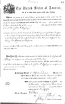 001255, US Land Patent, T28S, R15E, John W. Mayberry, Nov. 5, 1870, and BLM Land Patent Detail Sheet