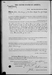 002573, US Land Patent, T29S, R11E, John Hackney, Sept. 10, 1870, and BLM Land Patent Detail Sheet