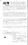 086252, US Land Patent, T29S, R16E, Drura W. James, James McCoy, July 1, 1861, and BLM Land Patent Detail Sheet
