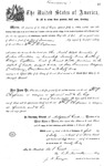 000520, US Land Patent, T29S, R18E, William S. Chapman, July 1, 1869, and BLM Land Patent Detail Sheet
