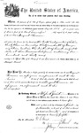 001101, US Land Patent, T31S, R18E, August Hemme, Nov. 1, 1870, and BLM Land Patent Detail Sheet