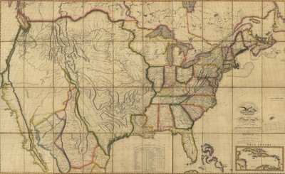 1816 - Map of the United States with the contiguous British and Spanish Possessions