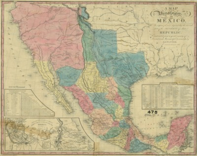1832 Map Of United States Of Mexico Second Edition 1846