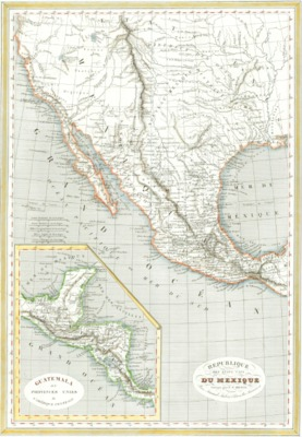 Second Edition 1846 1835 Map Republic Of The United States Of Mexico