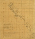 1847 - Map of Upper & Lower California showing the military stations and distribution of troops.