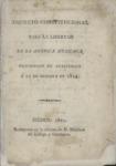 1814 - Decreto Constitucional Para La Libertad De La America Mexicana, Sancionado En Apatzingan