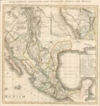 1824 - German Map of Mexico with new listing of Mexican states